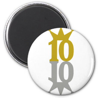 10-Crown-Reflection 2 Inch Round Magnet