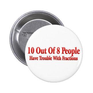 10 de 8 personas tienen problema con las fraccione pins