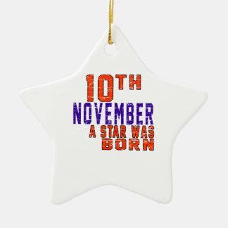 10 de noviembre una estrella nació adorno de cerámica en forma de estrella