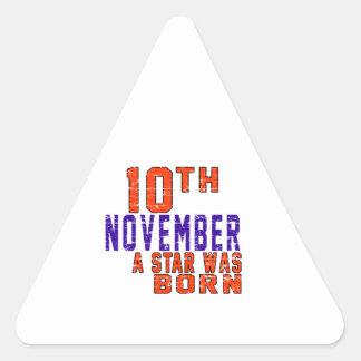 10 de noviembre una estrella nació calcomania de trianguladas