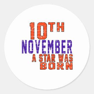 10 de noviembre una estrella nació etiquetas redondas