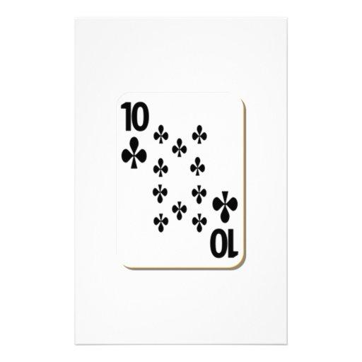 10 del naipe de los clubs papeleria