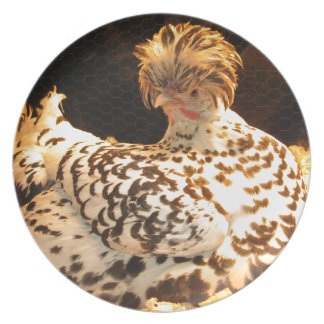 """10"""" Dinner plate with hen"""