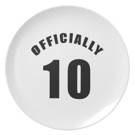 10 diseñe oficialmente plato para fiesta