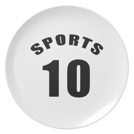 10 diseños del cumpleaños de los deportes plato de cena