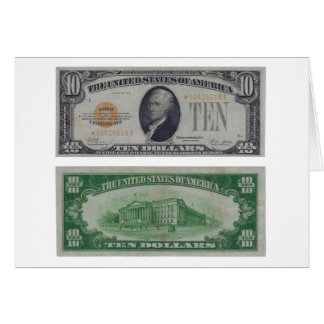 10 Dollar United States Gold Certificate Card