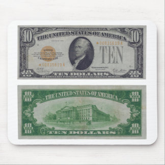 10 Dollar United States Gold Certificate Mouse Pad