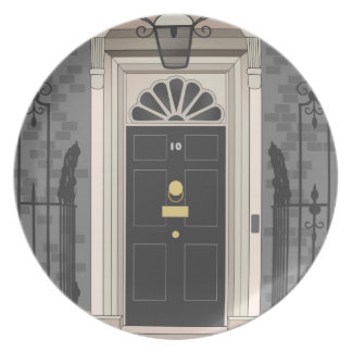 10 Downing Street, London (drawing) Dinner Plate