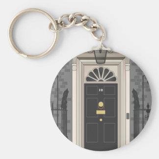 10 Downing Street, Londres (dibujo) Llavero Redondo Tipo Pin