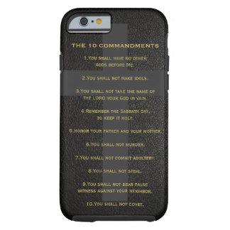 10 el caso de Iphone 6 de los mandamientos Funda De iPhone 6 Tough