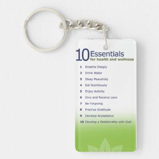 10 essentials & Mission Statement Keychain