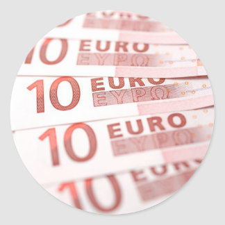 10 Euros Classic Round Sticker