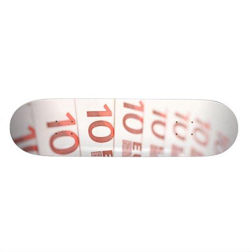 10 Euros Custom Skate Board