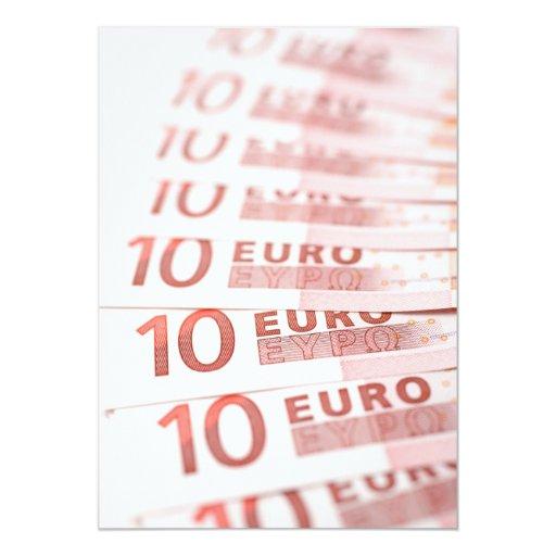 """10 euros invitación 5"""" x 7"""""""