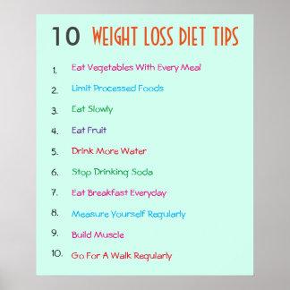 10 extremidades de la dieta de la pérdida de peso póster
