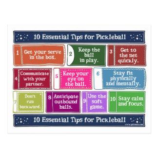 10 extremidades esenciales para Pickleball Postales
