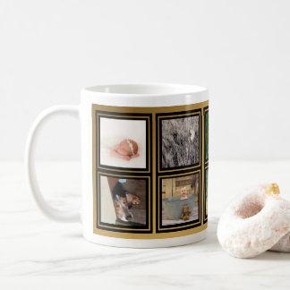 10 Family Photo Collage Custom Instagram Modern Coffee Mug