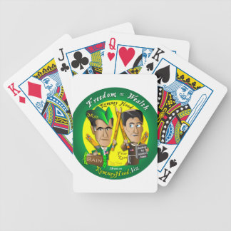 10. Freedom = Wealth Bicycle Playing Cards
