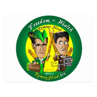 10. Freedom = Wealth Postcard