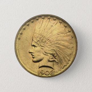 $10 GOLD PIECE BUTTON