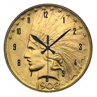 $10 GOLD PIECE CLOCK