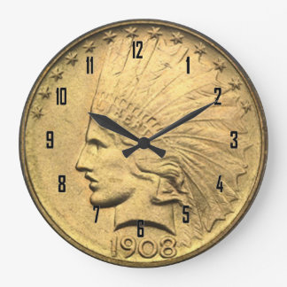 $10 GOLD PIECE LARGE CLOCK