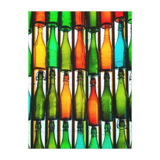 10 green bottles… canvas print