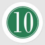 #10 Green Circle Sticker