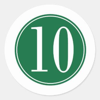 10 Green Circle Sticker