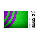 10 Green & Purple Large Postage Postage Stamps