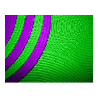 10 Green & Purple Postcard