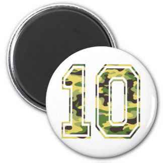 #10 Green & Yellow Camo Magnet