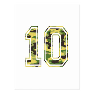#10 Green & Yellow Camo Postcard