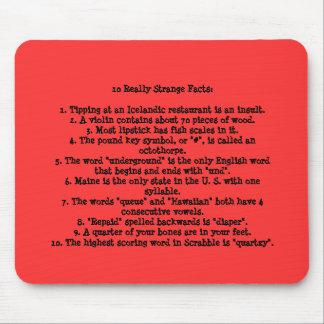 10 hechos realmente extraños tapete de raton