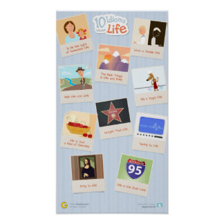 10 Idioms About Life Poster