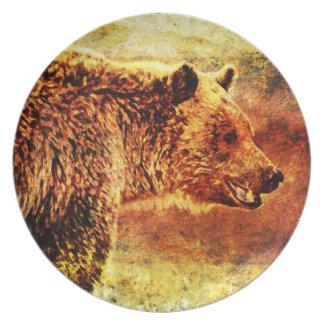 10 inch Grizzly Bear Custom plate Dinner Plates