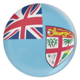 10 inch Plate Fiji flag