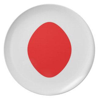 10 inch Plate Japan flag