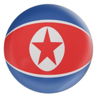 10 inch Plate North Korea flag