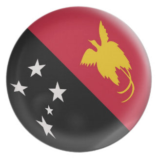 10 inch Plate Papua New Guinea flag