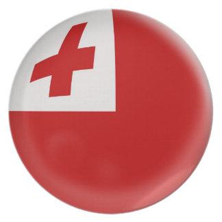 10 inch Plate Tonga flag
