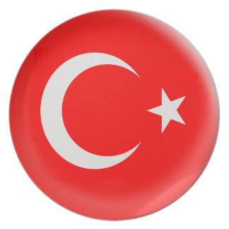 10 inch Plate Turkiey Turkish flag