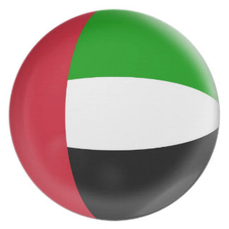 10 inch Plate United Arab Emirates flag