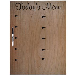 10 item Today's Menu Large Dry Erase Board w/Pen