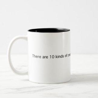 10 Kinds Of People Two-Tone Coffee Mug