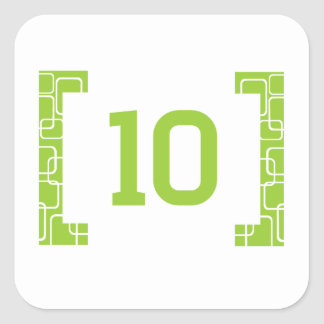 #10 Lime Green Square Sticker