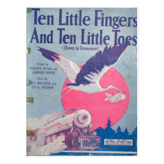 10 Little Fingers and 10 Little Toes Postcard