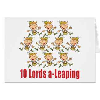 10 Lords a-Leaping Card