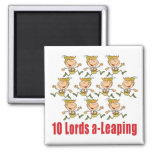 10 Lords a-Leaping Magnet Fridge Magnets