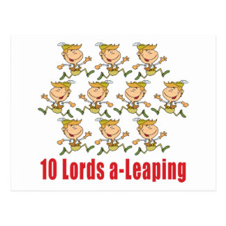 10 Lords a-Leaping Postcard